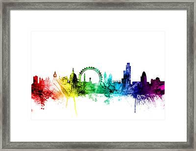 London England Skyline Framed Print