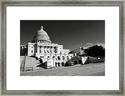 Capitol Hill Building In Washington Dc Framed Print by Brandon Bourdages