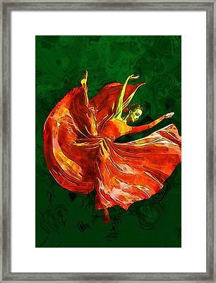 Dance Framed Print by Elena Kosvincheva