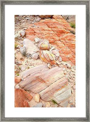 Framed Print featuring the photograph Multicolored Sandstone In Valley Of Fire by Ray Mathis