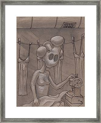 3c Basement Apt. Framed Print by Ethan Harris