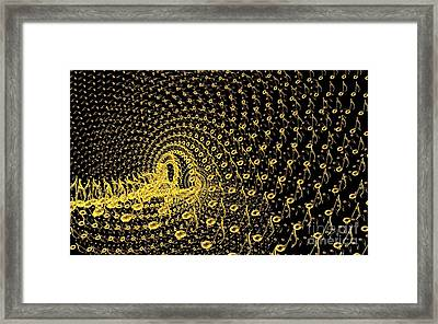 3d Abstract Design From Music Notes Framed Print