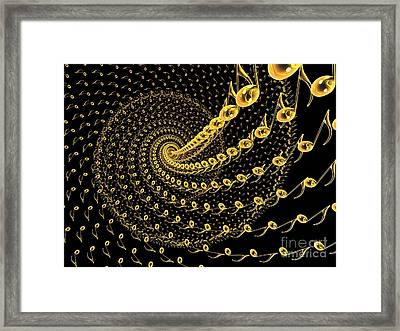 3d Abstract Design Of Music Notes Framed Print