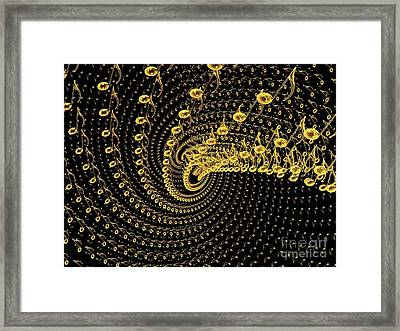 3d Abstract Music  Framed Print