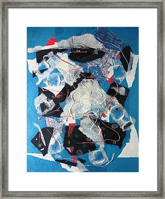 3d Abstract On Blue Framed Print by David Raderstorf