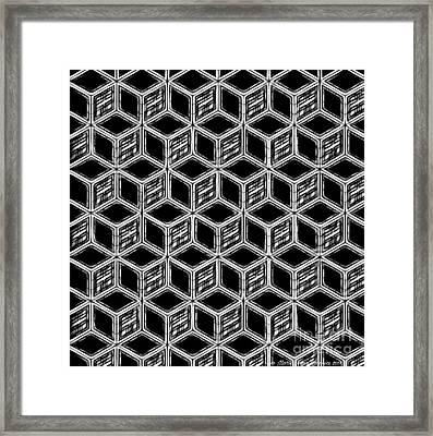 3d Blackstep Framed Print