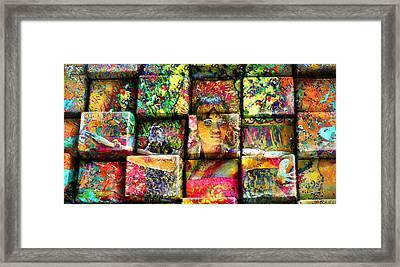 3d Cubist Framed Print