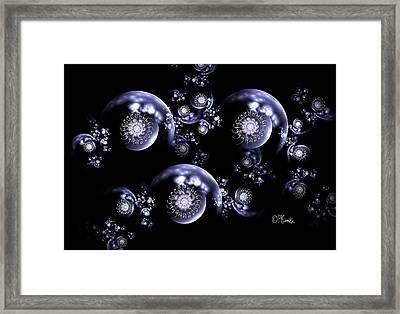 3d Filagree Black Pearl Chain Framed Print