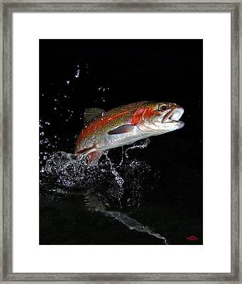 3d Rainbow Framed Print by Brian Pelkey