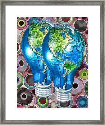 3d Render Of Planet Earth 15 Framed Print by Lanjee Chee