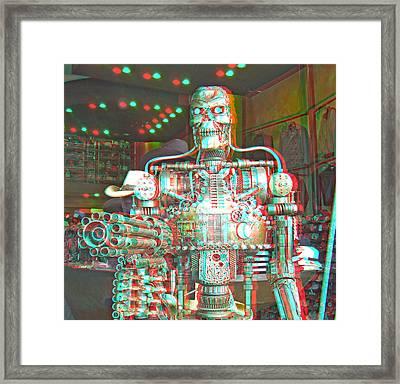 3d Robot Framed Print