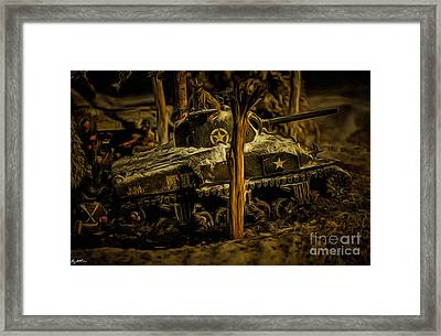 3rd Ad Christmas In Bastogne 1944 Framed Print by Tommy Anderson