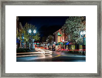 Franklin, Tennessee - 3rd And Main Framed Print by David Tutterrow