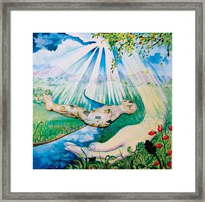 3rd Step Framed Print by Lucinda Blackstone
