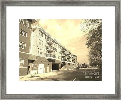 3rd Street Columbus Indiana - Sepia Framed Print by Scott D Van Osdol