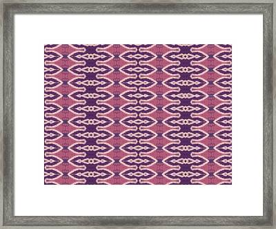 4 12 17 Left Handed Clown Framed Print by Modern Metro Patterns and Textiles