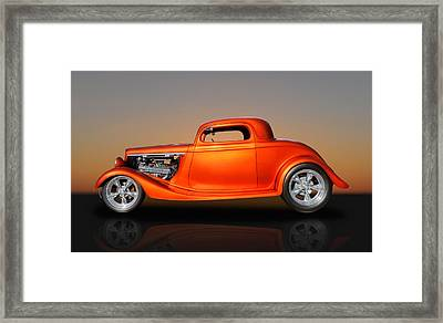 1933 Ford 3 Window Coupe Framed Print