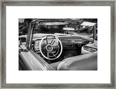 1959 Lincoln Continental Town Car Mk Iv Painted Bw Framed Print