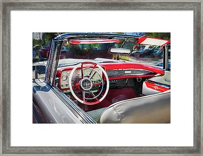 1959 Lincoln Continental Town Car Mk Iv Painted  Framed Print