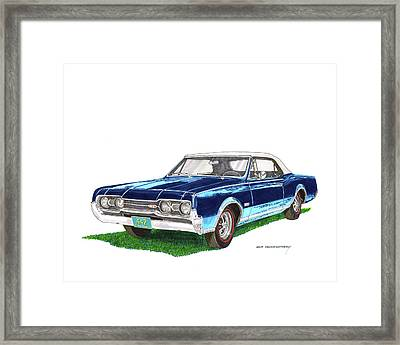 4  4  2  Olds Convertible 1967 Framed Print by Jack Pumphrey