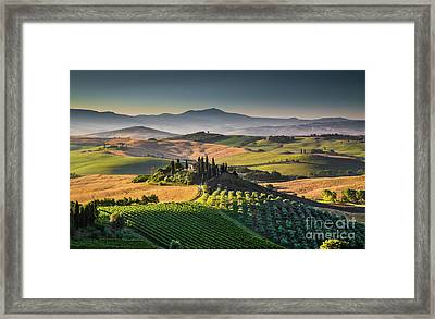 A Morning In Tuscany Framed Print