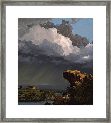 A Passing Storm  Framed Print by Frederic Edwin