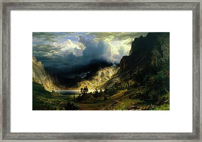 A Storm In The Rocky Mountains Framed Print