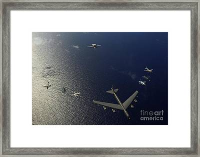 A U.s. Air Force B-52 Stratofortress Framed Print by Stocktrek Images
