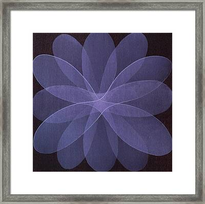 Abstract Flower  Framed Print by Jitka Anlaufova
