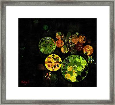 Framed Print featuring the digital art Abstract Painting - Black by Vitaliy Gladkiy