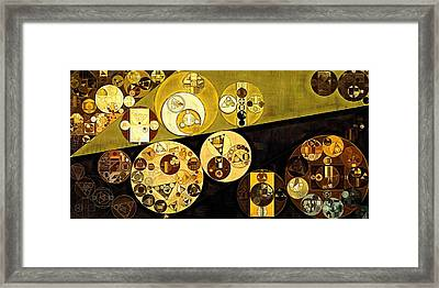 Abstract Painting - Golden Sand Framed Print by Vitaliy Gladkiy