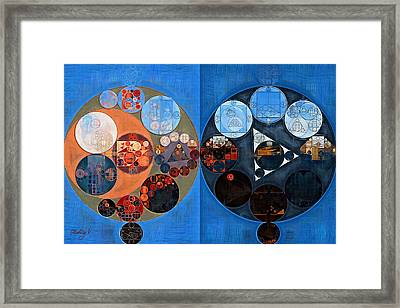 Abstract Painting - Lochmara Framed Print