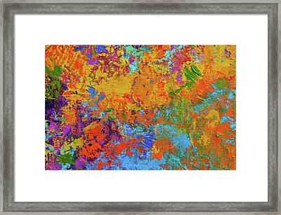 Abstract Painting Modern Art Contemporary Design Framed Print
