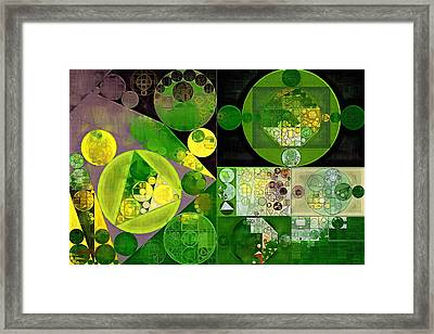 Abstract Painting - Phthalo Green Framed Print