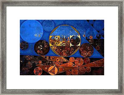 Abstract Painting - Sapphire Framed Print