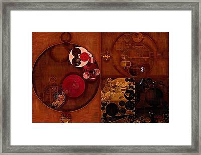 Abstract Painting - Seal Brown Framed Print