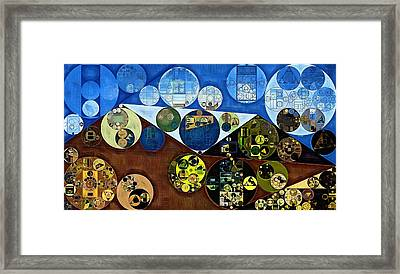 Framed Print featuring the digital art Abstract Painting - Wood Bark by Vitaliy Gladkiy