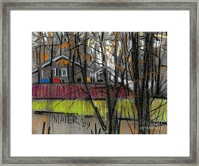 Across The Creek Framed Print by Donald Maier
