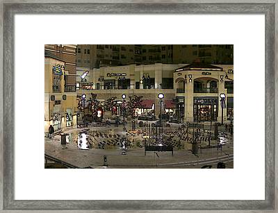 Framed Print featuring the digital art After Closing by Gary Baird