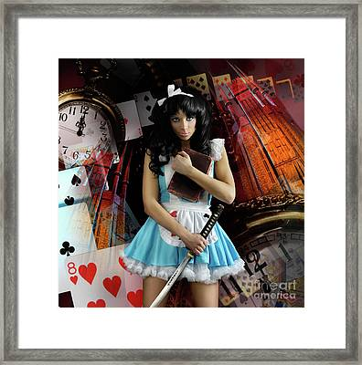 Alice In Wonderland Framed Print by Oleksiy Maksymenko