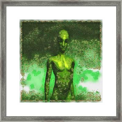 Alien Art By Raphael Terra Framed Print