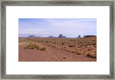 America - The Iconic Monument Valley Framed Print