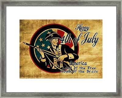 American Revolution Soldier General  Framed Print by Aloysius Patrimonio