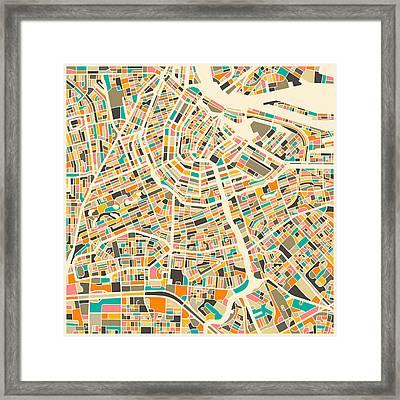 Amsterdam Map Framed Print