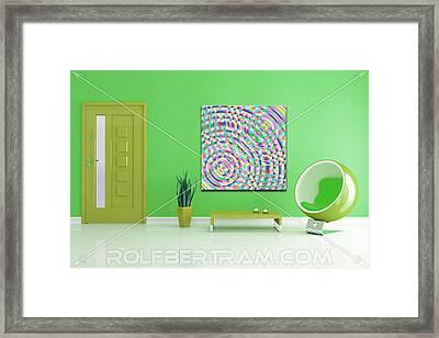 An Example Of Modern Art By Rolf Bertram In An Interior Design Setting Framed Print by Rolf Bertram