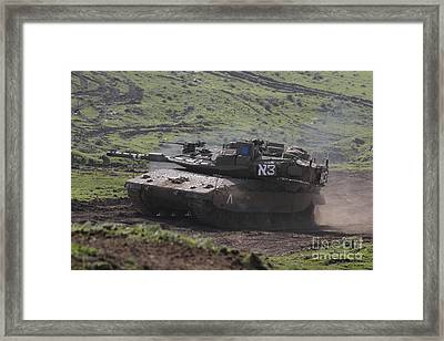 An Israel Defense Force Merkava Mark Iv Framed Print