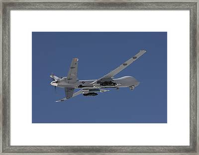 An Mq-9 Reaper Flies A Training Mission Framed Print by HIGH-G Productions