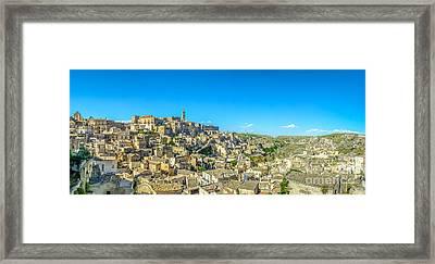 Ancient Town Of Matera, Basilicata, Italy Framed Print by JR Photography