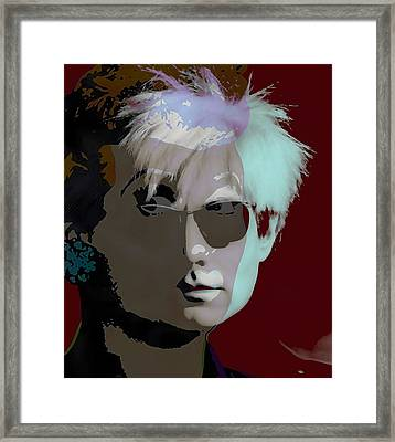 Andy Warhol Collection Framed Print by Marvin Blaine