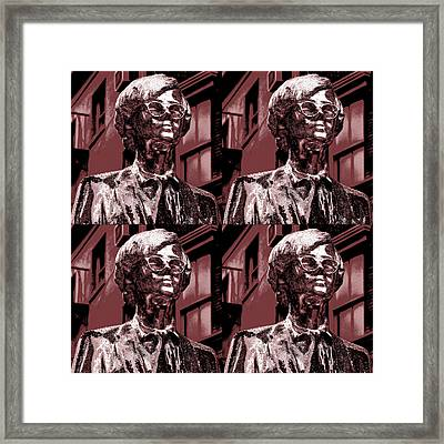 Andy Warhol Statue Union Square Nyc  Framed Print by Robert Ullmann